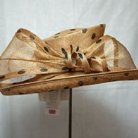 Gold and Black Spot Nigel Rayment Wedding Hat NR19